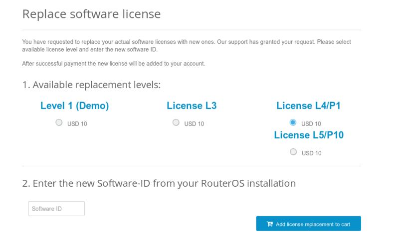RouterOS license keys - RouterOS - MikroTik Documentation